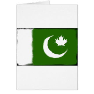 Pakistani - Canadian Fusion Greeting Card