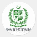 Pakistani Emblem Round Stickers