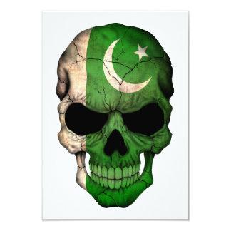 Pakistani Flag Skull 3.5x5 Paper Invitation Card