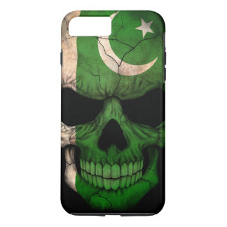 Pakistani Flag Skull on Black iPhone 8 Plus/7 Plus Case