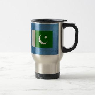 Pakistani flag travel mug