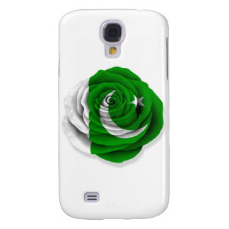 Pakistani Rose Flag on White Galaxy S4 Cover