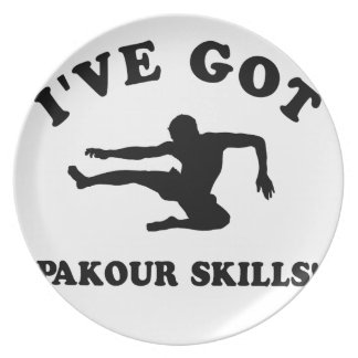 pakour skill gift items party plate