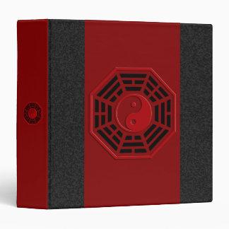 PaKua   dark red, black splatter 3 Ring Binder