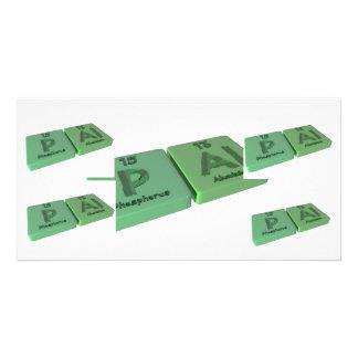 Pal as P Phosphorus and Al Aluminium Card