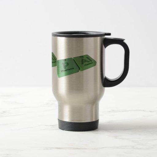 Pal as P Phosphorus and Al Aluminium 15 Oz Stainless Steel Travel Mug