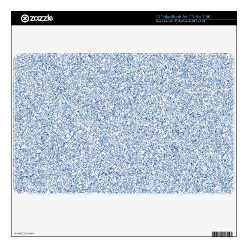 Pal Blue Glitter Mac AIr Skin Decal For The MacBook Air