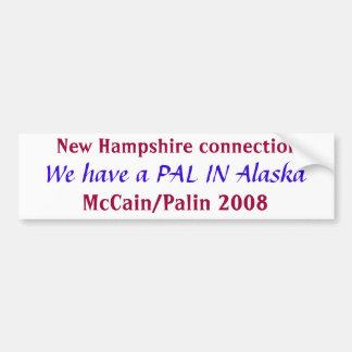 PAL en la pegatina para el parachoques de Alaska Pegatina Para Auto