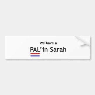 PAL en Sarah Pegatina Para Auto