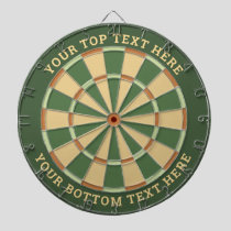 Pal Green and Beige Dartboard with Custom Text