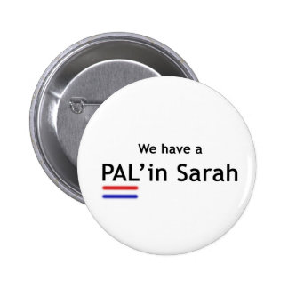 PAL' in Sarah 2 Inch Round Button