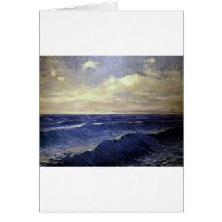 Pal Szinyei-Merse - water wave vintage. paintings Card