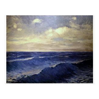 Pal Szinyei-Merse - water wave vintage. paintings Postcard