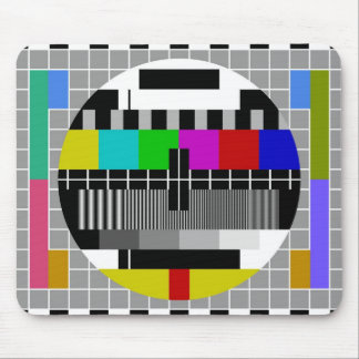 PAL TV test signal Mouse Pad