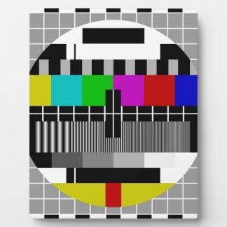 PAL TV test signal Photo Plaques