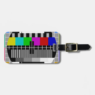 PAL TV test signal Tag For Luggage