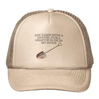 Pala para un arma gorras de camionero