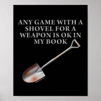 Pala para un arma póster