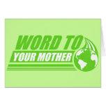 Palabra a su madre tarjeta