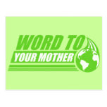 Palabra a su madre tarjeta postal