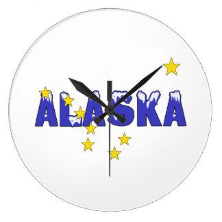 PALABRA ALASKA NEVADO RELOJ REDONDO GRANDE