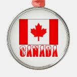 Palabra capsulada nieve de la bandera de Canadá Ornatos