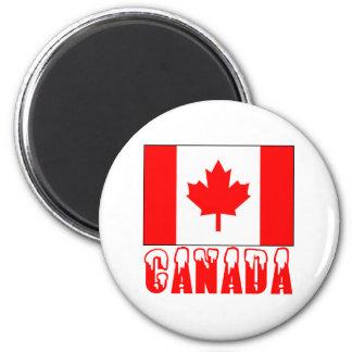 Palabra capsulada nieve de la bandera de Canadá Imán Para Frigorifico