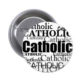 Palabra católica pin redondo de 2 pulgadas