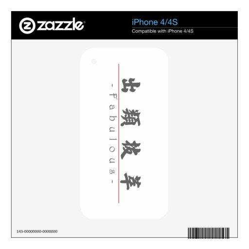 Palabra china para 10390_4.pdf fabuloso iPhone 4S skins