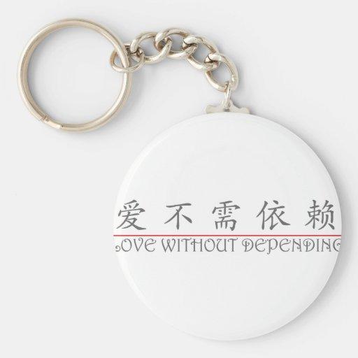 Palabra china para el AMOR SIN 10225_1.pd de DEPEN Llavero Personalizado