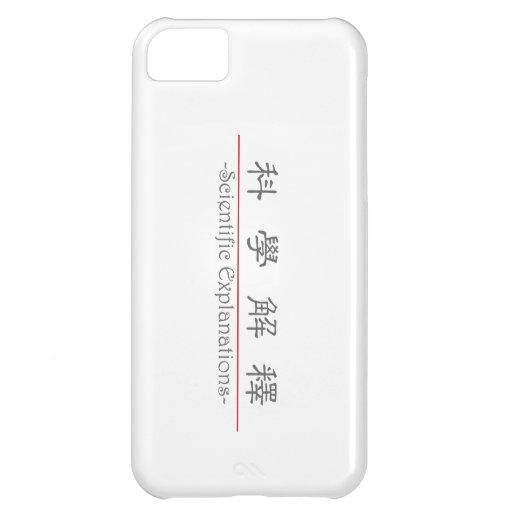 Palabra china para las explicaciones científicas 1 funda para iPhone 5C