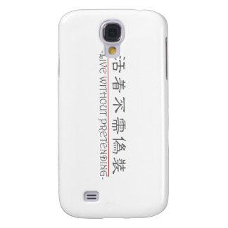 Palabra china para LIVE SIN EL FINGIMIENTO de 1022 Carcasa Para Galaxy S4
