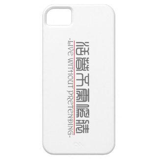 Palabra china para LIVE SIN EL FINGIMIENTO de 1022 iPhone 5 Cobertura