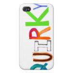Palabra colorida del arte de la diversión única in iPhone 4/4S carcasas