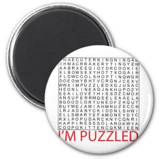 palabra de búsqueda puzzle02 imán redondo 5 cm