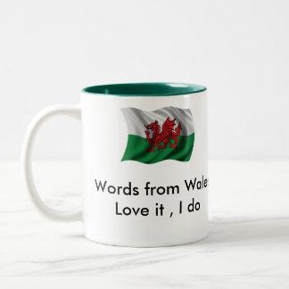 Palabra de D6G de la taza de País de Gales