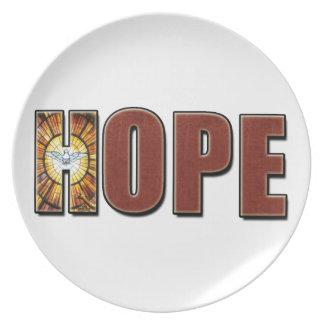 Palabra de la esperanza platos