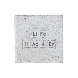 Palabra de la tabla periódica de los elementos de imán de piedra