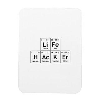 Palabra de la tabla periódica de los elementos de rectangle magnet