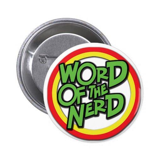 Palabra del botón del empollón pins