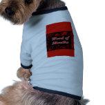 Palabra del diseño rojo y negro de Mouthz Camisetas De Perrito