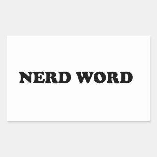 Palabra del empollón pegatina rectangular