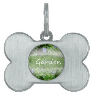 Palabra del jardín con cultivar un huerto del placa de mascota