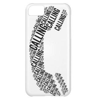 Palabra del microteléfono del teléfono LLAMADA Funda Para iPhone 5C