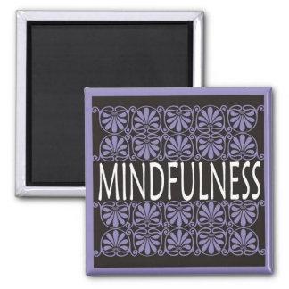 Palabra del poder para la motivación - MINDFULNESS Imán Cuadrado