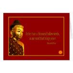 Palabra del ~ uno de la cita de Buda que trae paz Tarjetón