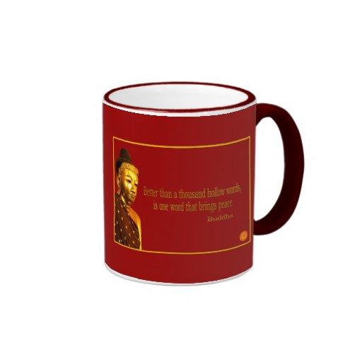Palabra del ~ uno de la cita de Buda que trae paz Taza De Café
