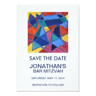 """Palabra hebrea Chai - vida Invitación 5"""" X 7"""""""