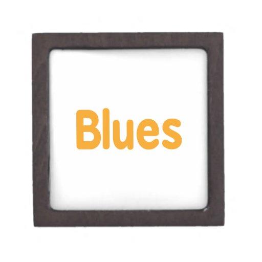 Palabra l música anaranjada design.png de los azul caja de regalo de calidad