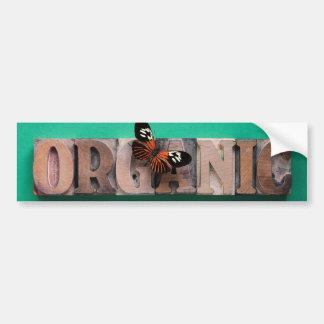 palabra orgánica con la pegatina para el parachoqu pegatina para auto